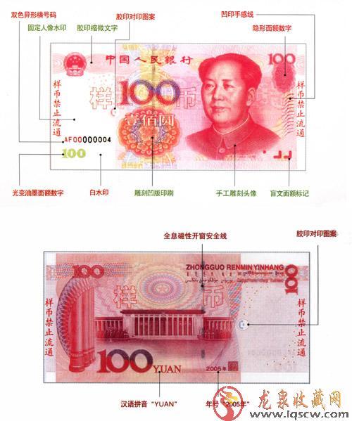 第五套人民币100元