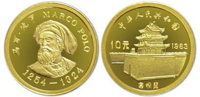 马可波罗金币设计精湛,是不可多得的精品老精稀品种