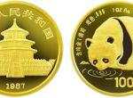 87年版1盎司熊猫金币100元