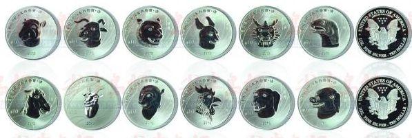 圆明园十二生肖像纪念银币发行,成为世界六大投资银币之首