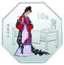 红楼梦第一组1盎司彩银币——迎春吟诗发行背景介绍