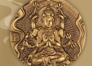 石窟艺术大铜章设计震撼,是大铜章中的精典之作