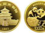 1987年12盎司精制熊猫金币1000元