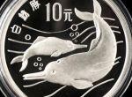 27克第一组珍稀动物白鳍豚银币价格上涨幅度是大还是小  适合长线投资吗