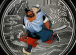 2011年1盎司《水浒传》第3组彩色银币