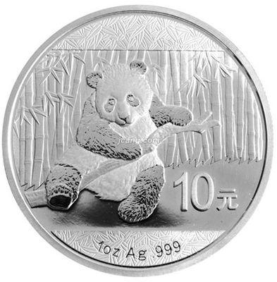 2014版熊猫金银币或会因为金价下跌影响价格