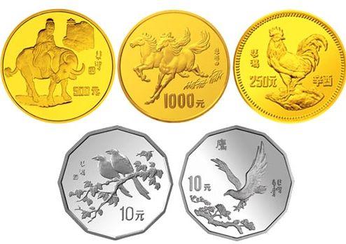 徐悲鸿金银纪念币已成系列,市场流通量非常稀少