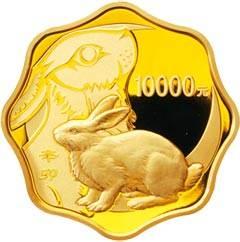 辛卯兔年1公斤梅花形纪念金币
