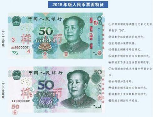 2019版新版人民币的变化分析