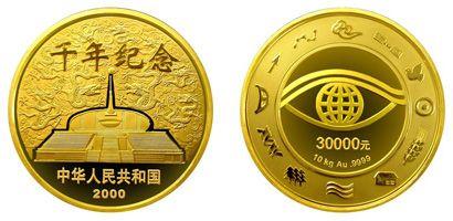 2000年千年金币1kg值得收藏吗