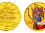 2000年第二组京剧艺术梁红玉1/2盎司彩色金币收藏价值怎么样