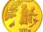 1/2盎司古代名画冬日婴戏图金币收藏久了会贬值吗  市场行情走势如何
